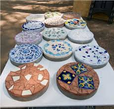 decorated garden stepping stones