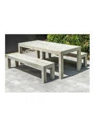 alexander rose distressed acacia picnic bench dining set