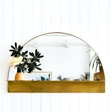 half circle shelves half circle mirror circle wall shelf white