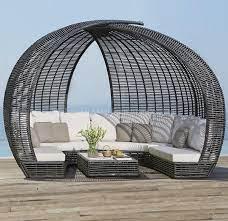 outdoor rattan bed creative bird cage