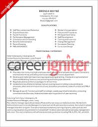 human resource resume examples human resources resumes best resume resume samples for hr