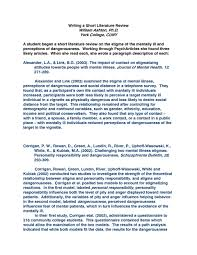 006 Best Ideas Of Sample Literature Review Using Apa Format