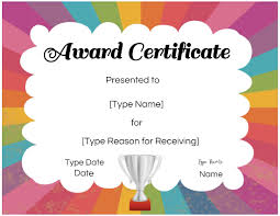 Free Custom Certificates For Kids Customize Online Print
