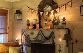 mantel lighting. divine mantel halloween design ideas showing incredible lighting