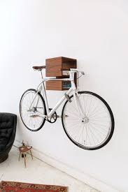 Comely Turpy Wall Mount Bike Rack Hand Painted Wooden Bike Rack Easy Wall  Mounting Rack Idea Solid Wood Furniture With A Simple Design Fits Any Type  Of Home ...