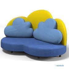 haba 2924 cloud 3d max kids sofa
