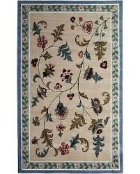 new area rug flower patch 8x10 slate blue latex backing fl washable non slip