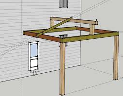 attaching open gable roof to house in