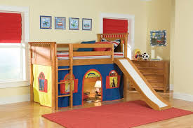 kids loft bed with slide. Loft Bunk Bed Slide Tent Kid Decofurnish Beds For Kids With K