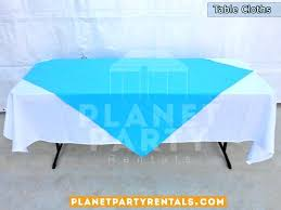 light blue tablecloth plastic