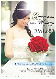 wedding promotion gown al bridal makeup rm1 880 only