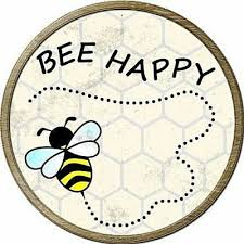 home décor plaques signs bee happy be