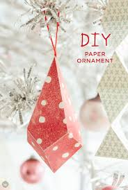 creative homemade christmas decorations. Red And White Patterned Paper Ornaments Hanging In Christmas Tree. Creative Homemade Decorations N