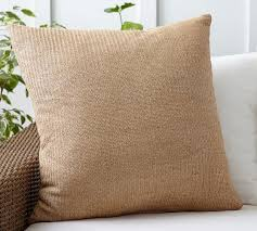 faux natural fiber indoor outdoor pillow