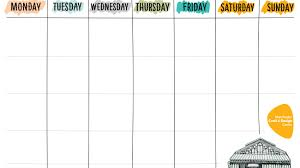 week schedule print out free printable weekly planner manchester craft and design centre