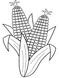 Coloring Page Of Corn Candy Corn Coloring Page Corn Coloring Pages