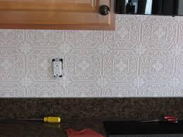 Kitchen Backsplash Tin Fake It Frugal Fake Punched Tin Backsplash