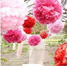 Hanging Paper Flower Balls 2019 Hanging Ball Flower Decorative Tissue Paper Pom Poms Flower Balls Pompom Artificial Paper Flowers Diy Wedding Party Home Decor From Orange326