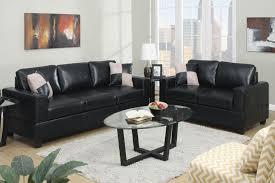 Living Room Sofas And Loveseats Sofa Glamorous Black Leather Sofa Set Black Leather Sofa Recliner