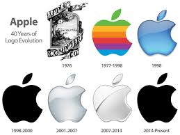 official apple logo 2014. apple logo evolution. 40 years of great products and services. happy birthday, apple! official 2014