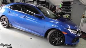 BLUE HONDA CIVIC 2017 HATCHBACK SPORT TOURING EDITION TINTED!  W