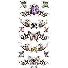 1ks Růže Motýl Tygr Totem Náramek Vodotěsný Tetování Vzorem Dočasné