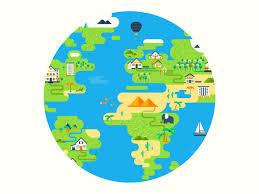 Earth Animation Flat By Karen Grigorean Dribbble Dribbble