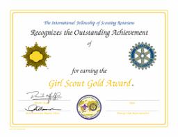 Scout Award Certificate Template