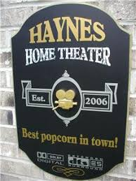 Small Picture Personalized Custom US Made 3D Wood SignsHome theater decorMovie