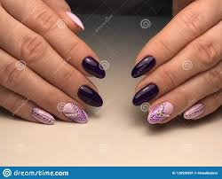 Professional Nail Designs Pictures Design On Nail Polish Stock Image Image Of Design Autumn
