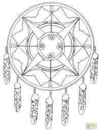 Small Picture Native American Dreamcatcher Mandala coloring page Free