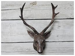 a stags head wall decoration
