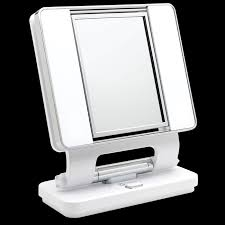 ottlite natural lighted makeup mirror white