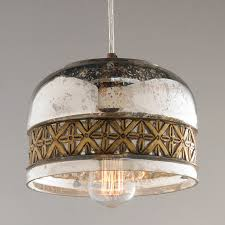 iron banded mercury glass pendant  shades of light