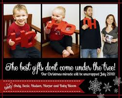 Pregnant Couple Christmas Card Ideas Merry Christmas