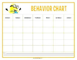 Smiley Face Daily Behavior Chart Printable Www