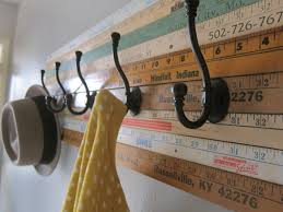 wall hanging yardstick collage accessory organizer