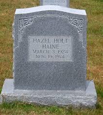 Hazel Holt Haine Gravestone, Scottsville Cemetery