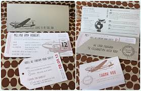 Silver Red Beige Vintage 1930s Airplane Boarding Pass Wedding