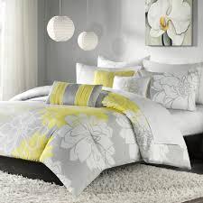 Lemon And Grey Bedroom Madison Park Lola Duvet Set The Duvets