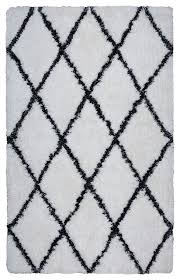 rizzy home connexc x004a white black area rug scandinavian area rugs by zeckos