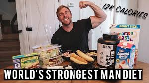 World S Strongest Man Diet Chart Worlds Strongest Man Diet Challenge Full Day Of Eating 12 000 Calories