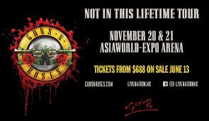 Guns N Roses Not In This Lifetime Tour Hong Kong Asiaworld Expo