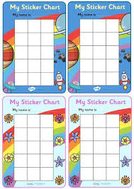 Weekly Reward Chart Printable Twinkl Resources My Sticker Chart Classroom Printables