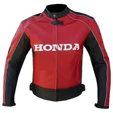 classyak honda real motorcycle leather jacket ce armor protection all sizes