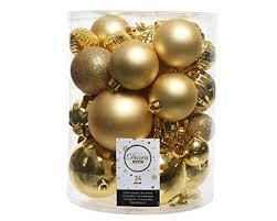 34er Set Kugelmix Pvc Gold Mit Weihnachtskugeln
