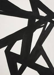 black and white abstract painting 1