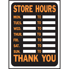 Small Picture HY KO 9 in x 12 in Plastic Store Hours Sign 3030 The Home Depot