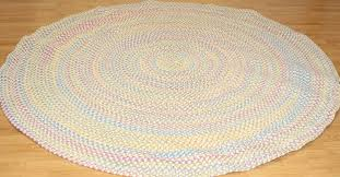 details about new allie braided pastel rug 7 round white pink blue yellow colonial mills 640