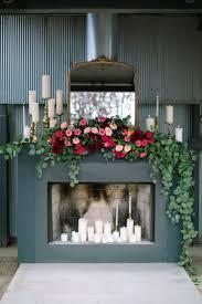 gold pink wedding inspiration wedding fireplace decorationsmantles
